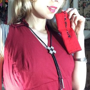 LOFT Tops - GIFTED Red Professional LOFT Blouse